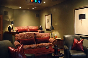 Evergreen Contemporary Theater Room